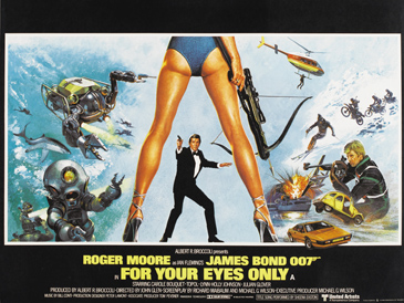 For Your Eyes Only UK Quad poster