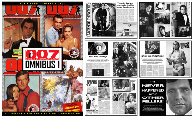 007 MAGAZINE Omnibus #1 - four complete issues of 48-page editions of 007 MAGAZINE
