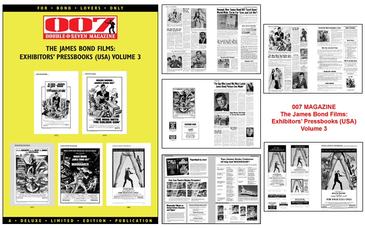 007 MAGAZINE The James Bond Films: Exhibitors' Pressbooks (USA) Volume 3