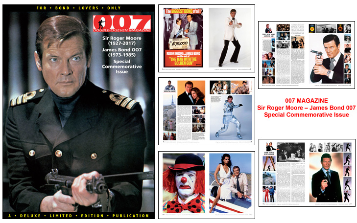 007 MAGAZINE Sir Roger Moore - James Bond 007 Special Commemorative Issue