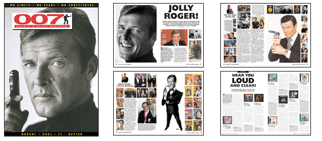007 MAGAZINE issue 46 - Roger Moore as James Bond 007, Monty Norman James Bond composer, James Bond soundtracks