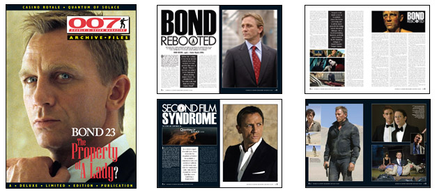 007 MAGAZINE ARCHIVE FILES -Casino Royale/Quantum of Solace Daniel Craig as James Bond 007