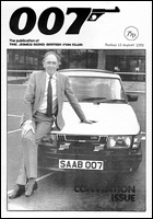 007 MAGAZINE Issue #11 - John Gardner James Bond author with SAAB