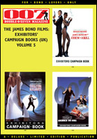 007 MAGAZINE The James Bond Films: Exhibitors' Campaign Books (UK) Volume 5