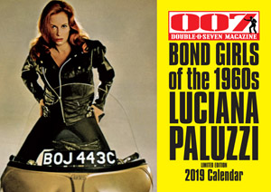 007 MAGAZINE  BOND GIRLS of the 1960s LUCIANA PALUZZI Limited Edition 2019 Calendar
