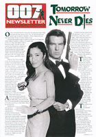 007 NEWSLETTER #16 Pierce Brosnan James Bond 007 Tomorrow Never Dies