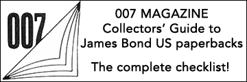 007 MAGAZINE collectors' guide to James Bond US paperbacks