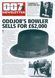 Oddjob's bowler hat sells for a records £62,000