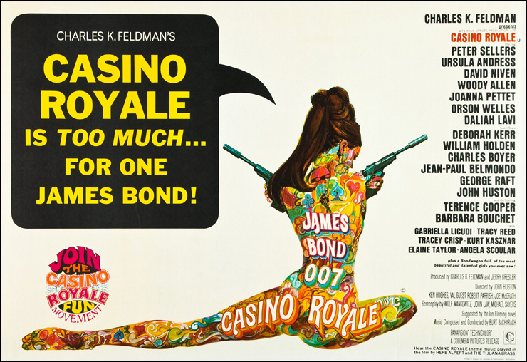 Casino Royale (1967) UK quad-crown poster with artwork by Robert McGinnis