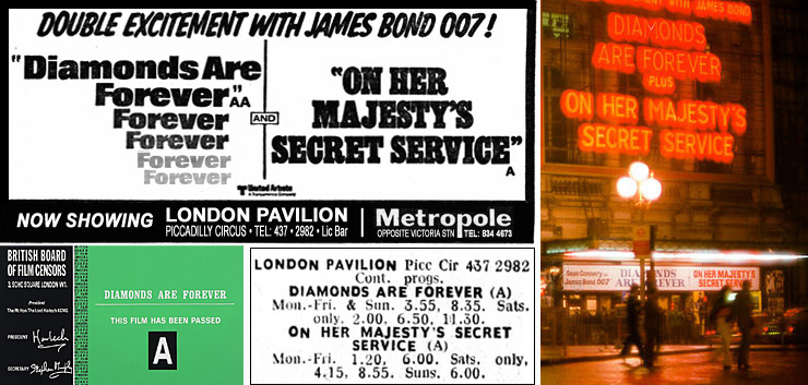 Daimonds Are Forever/On Her Majesty's Secret Service