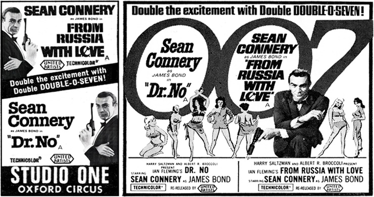 Dr. No/From Russia With Love press advertisements