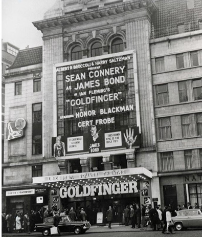 Goldfinger at the Leicester Square Theatre 1964