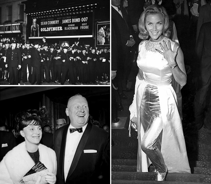 Goldfinger premiere ODEON Leicester Square 17 September 1964