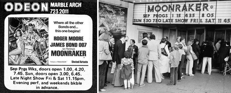 Moonraker - Odeon Marble Arch 1979