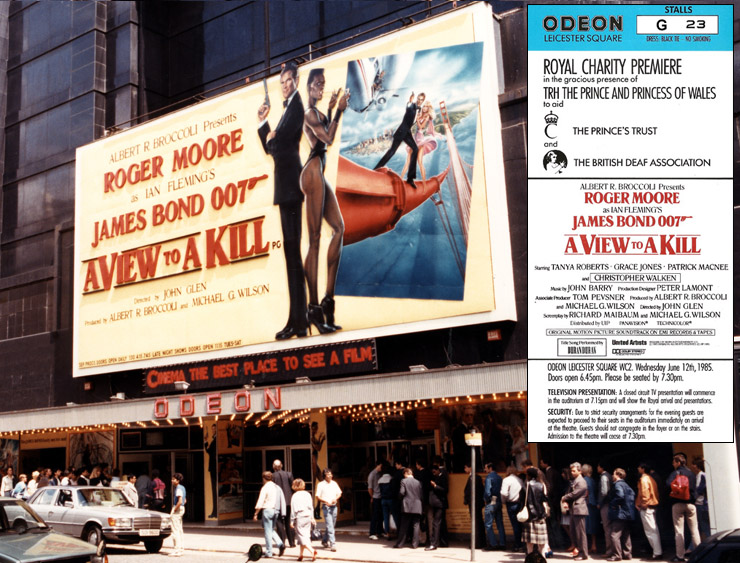 A View To A Kill Odeon Leicester Square 1985