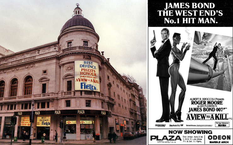 A View To A Kill Plaza Piccadilly 1985