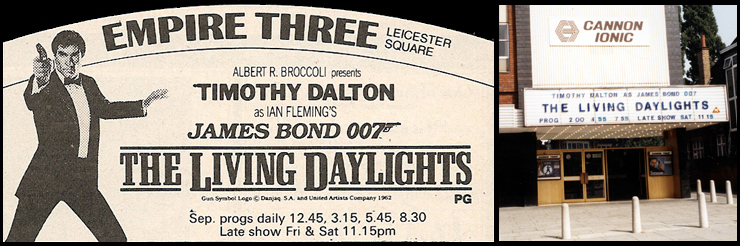 The Living Daylights (1987) Empire Leicester Square/Cannon Ionic