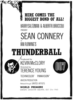 Thunderball premiere announcement