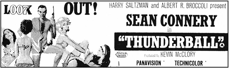 Thunderball newspaper advertisement