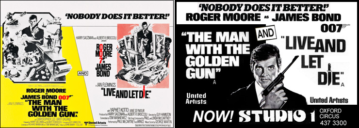 The Man With The Golden Gun/Live And Let Die double-bill