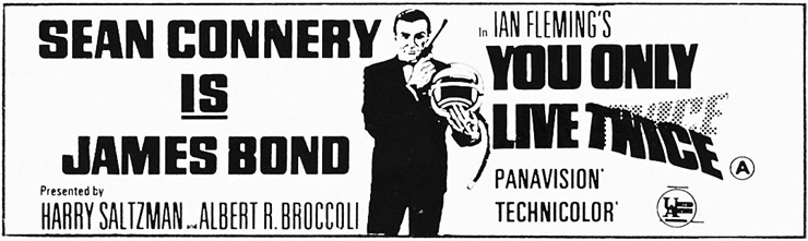 You Only Live Twice newspaper advertisement
