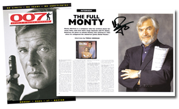 007 MAGAZINE #46 Signed by Monty Norman