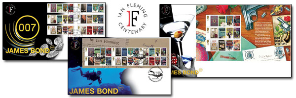 James Bond Limited Edition First Day Covers and commemoration stamps