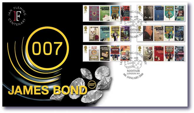 James Bond 007 Postage Stamps Cover