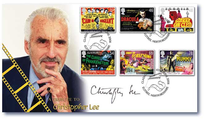 Christopher Lee First Day Cover