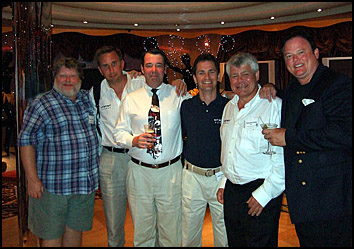 (L-R) Dave Worrall,Tom Stroud, Lee Pfeiffer  Jean Goyette, Duncan Carter, and tour organiser Rich Skillman.