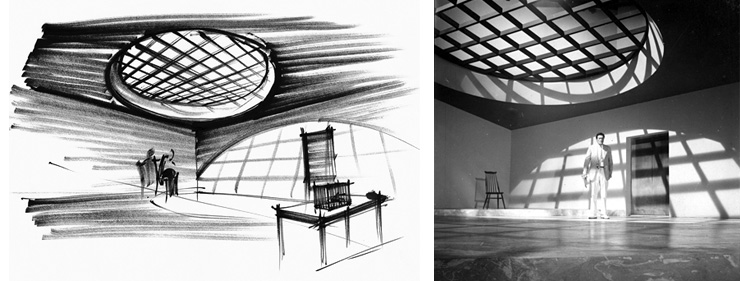 Dr. No (1962) Spider Room sketch and set