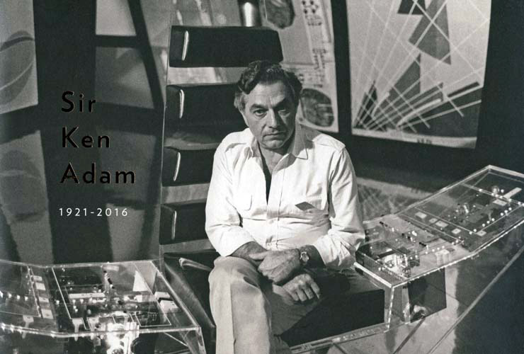 Sir Ken Adam on the set of Moonraker (1979)