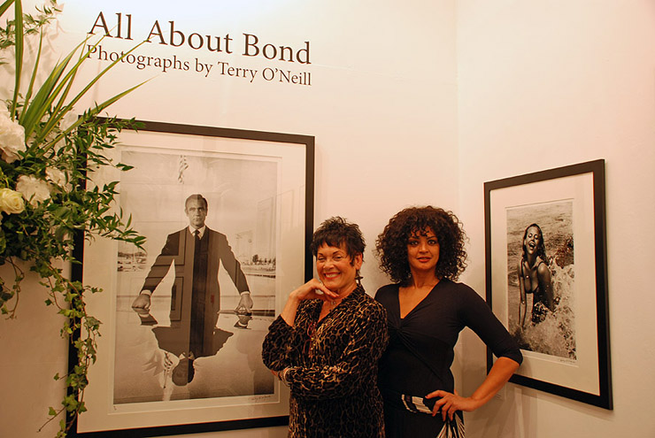 Bond girls Martine Beswicke (From Russia With Love and Thunderball) and Jane Spencer (Never Say Never Again and A View To A Kill) at the launch of Terry O'Neill's All About Bond hosted by Proud Chelsea.