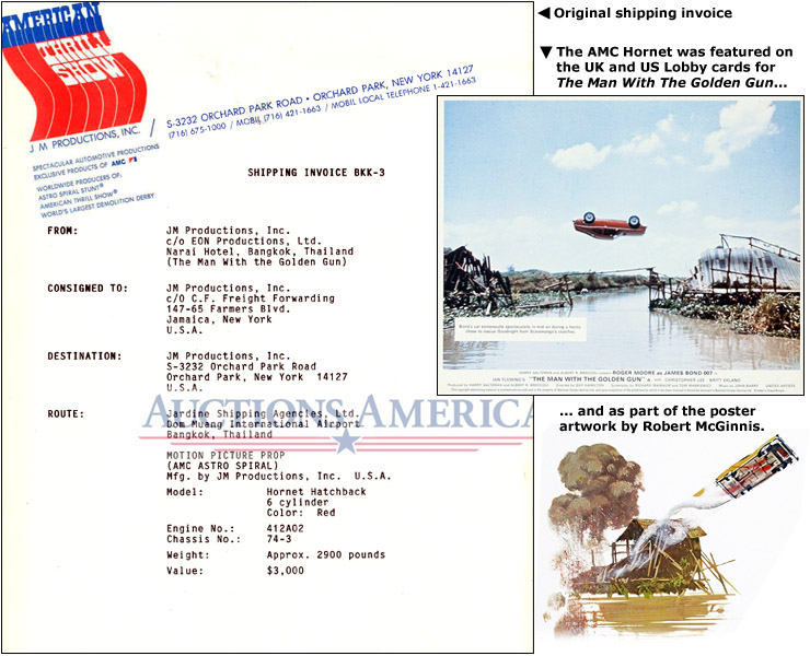 AMC Hornet shipping invoice/FOH Still and Poster