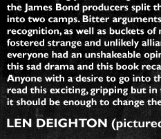 James Bond creator Ian Fleming with Len Deighton