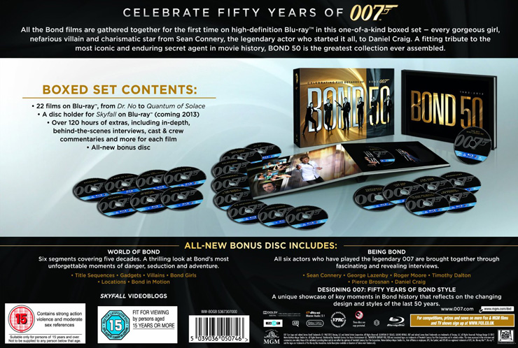 Celebrate 50 Years of 007 - BOND50 Blu-ray collection