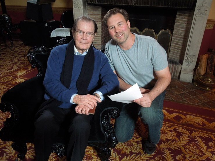 Sir Roger Moore interviewed by Andrew Lumley for George Lazenby: This Never Happened To The Other Fella – The Documentary
