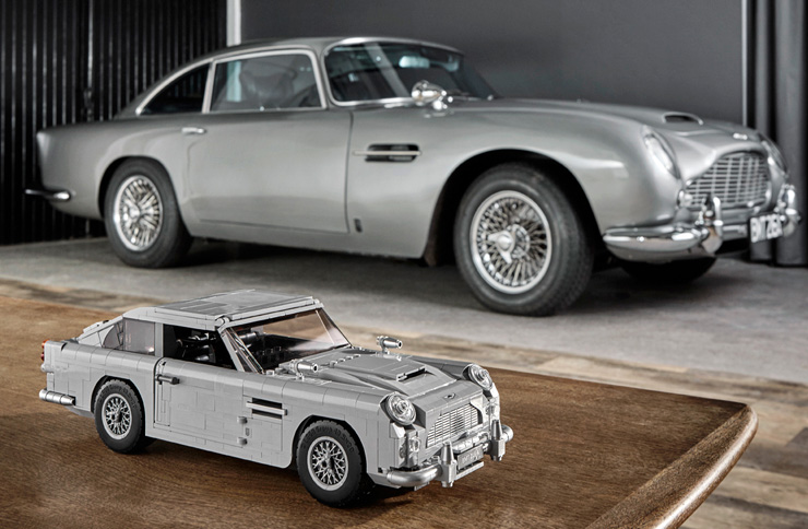James Bond Aston Martin DB5 and LEGO Creator Expert 1:8 model