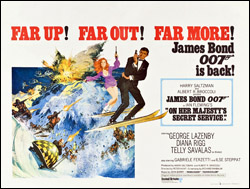 On Her Majesty's Secret Service quad poster