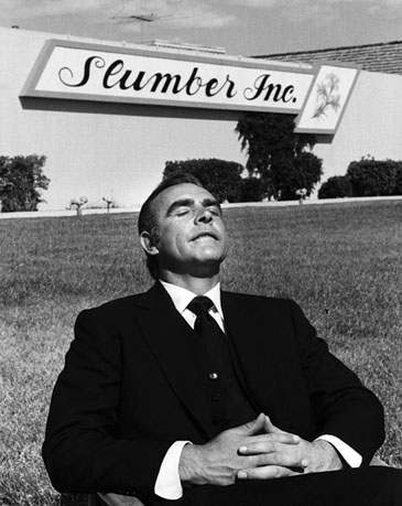 Sean Connery relaxes on the set of Diamonds Are Forever (1971) Photograph by Terry O'Neill