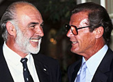 Sir Sean Connery and Sir Roger Moore