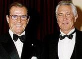 Sir Roger Moore and George Lazenby