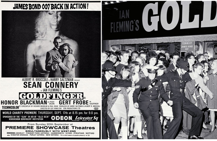 Goldfinger ODEON Leicester Square 17 September 1964