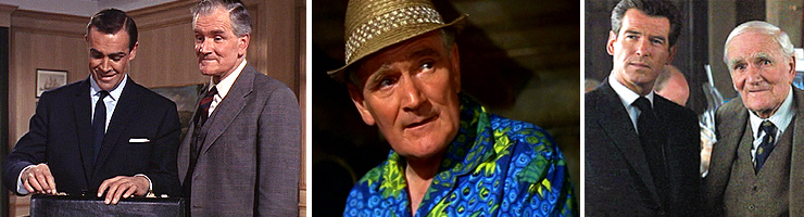 Desmond Lewelyn as Q in From Russia With Love (1963), Thunderball (1965) and The World Is Not Enough (1999)
